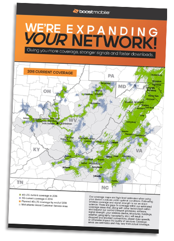 Boost Mobile Lenticular Coverage Map