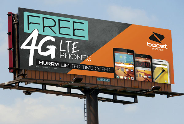 Boost Mobile Promo Billboards