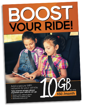 Boost Mobile POS Counter Card